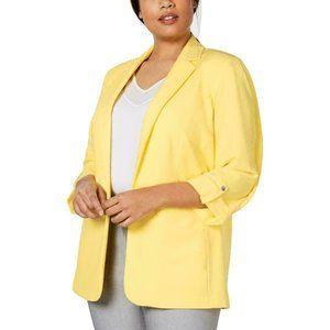 Calvin Klein Women Plus Open Front Suit Blazer 2X